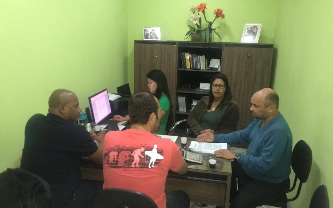 Reunião em Jaguaquara para tratar da proposta de Termo Aditivo